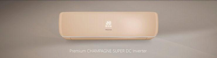 Hisense PREMIUM CHAMPAGNE Super DC Inverter