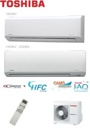 Сплит система Toshiba RAS-10N3KV-E/RAS-10N3AV-E - фото 5133